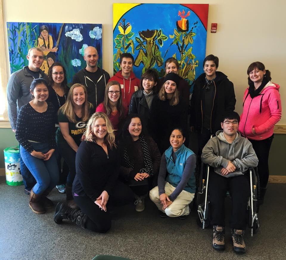 Rotaract members show Rotary Youth Exchange students around Milwaukee